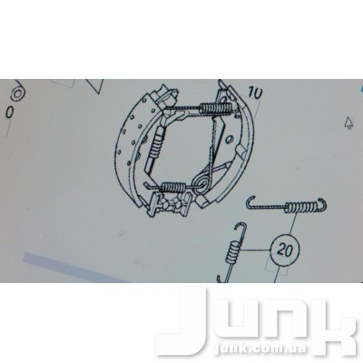 Ремкомплект колодок тормозных задних для Mercedes Benz W168 A-Klasse 1997-2004 oe A1684210090 разборка бу