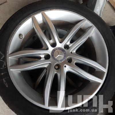 Диски Mercedes OEM A2044017802 7,5x17 5x112 ET47 DIA66,6 (silver) Б/У oe  разборка бу
